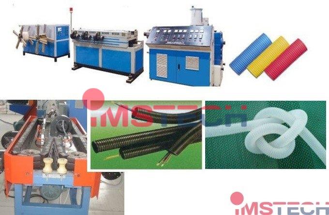 Оборудование для производства одностенных гофротруб из ПВХ, ПЭ,ПНД
