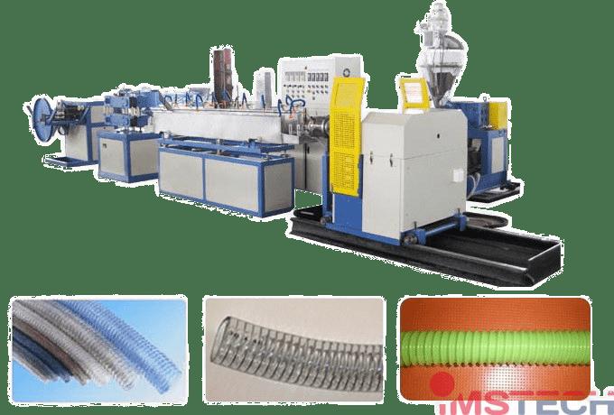 Линия-для-производства-шлангов-ПВХPVC-с-армированием-спиральной-проволокой