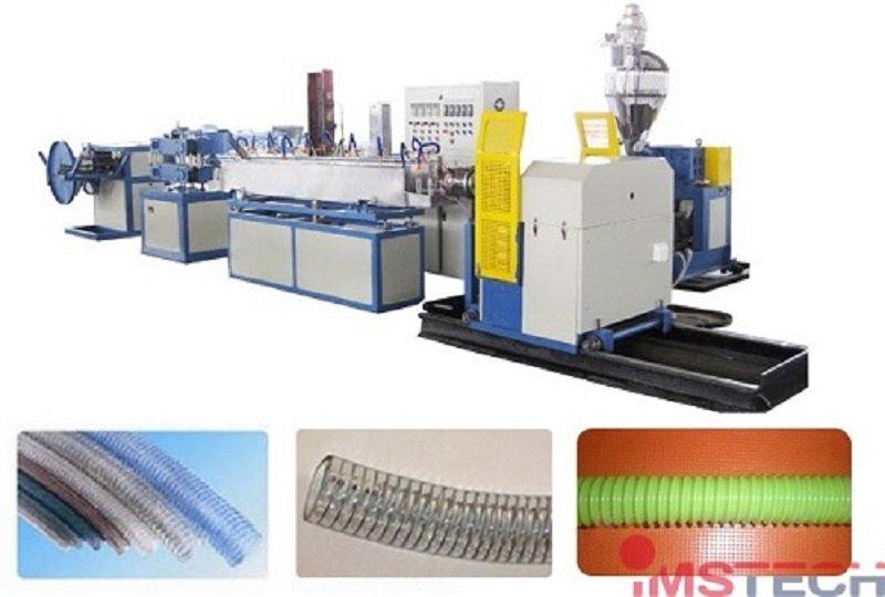 Экструзионная линия для производства шлангов ПВХ(PVC)  армированных спиральной проволокой