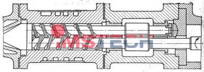 Схема двухшнековых экструдеров