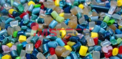 Подготовленные к переработке пластиковые гранулы